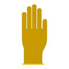 glove icon in colorful silhouette