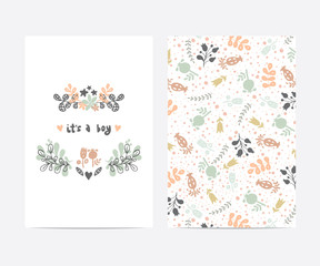 baby shower vector card template