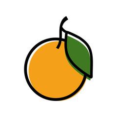 Simple mandarin icon vector illustration