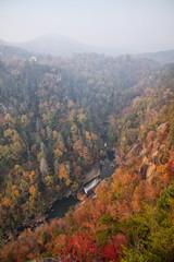 Tallulah Gorge Georgia Waterfalls and Blue Ridge Mountains