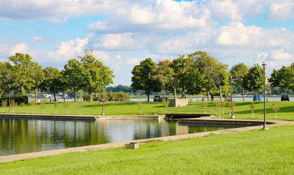 Belle Isle Park  is a 982-acre island park in the Detroit River, between the United States mainland and Canada.
