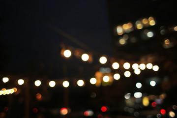 Beautiful blurred lights on dark background