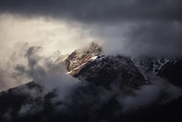 Himalayan peak at sunset in Nepal