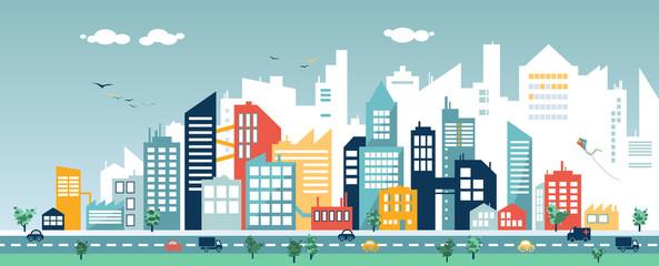 Cityscape Design Wall mural
