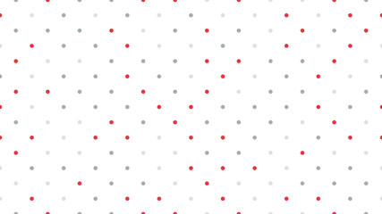 Seamless polka dot pattern with white background. Vector repeating texture.
