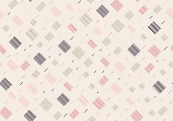 Seamless pattern with rectangles with lines on a beige background. Vector repeating texture.