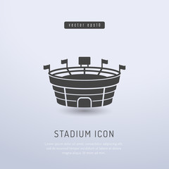 Sports stadium icon vector illustration