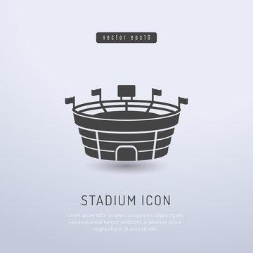 Sports stadium icon vector illustration