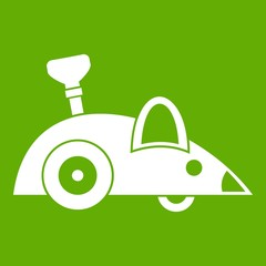 Clockwork mouse icon green