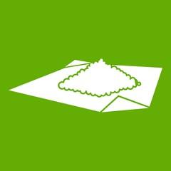 Powder marijuana icon green