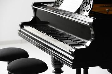 Beautiful grand piano indoors