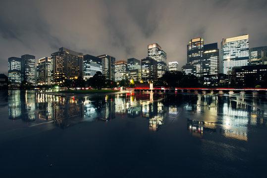 Rain, Cityscape, Tokyo