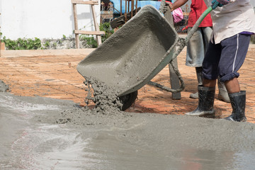 car for container mix concrete