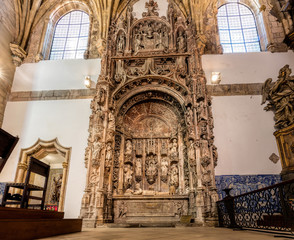 Santa Cruz Monastery, founded in 1131, contains tombs of the first two kings of Portugal, was the most important during the early days of the Portuguese monarchy. Coimbra, Portugal.