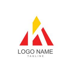 K Logo Vector Template Design