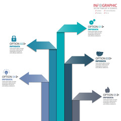 Vector abstract element infographics. Design for business or finance template layout, brochure, workflow, information or presentation and other. Can add infodata and icon. Abstract 3D vector.
