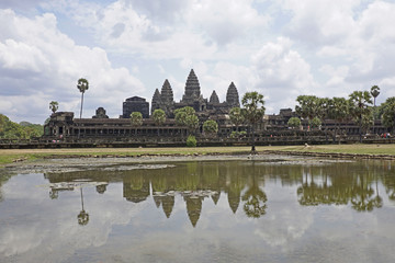 The ancient temple of Angkor Wat.