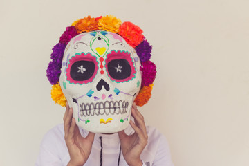 Traditional mexican day of the dead symbol
