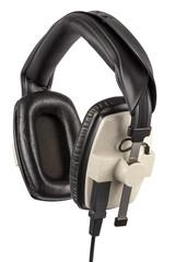 High quality professional headphones hanging.