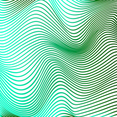 Abstract curve lines background green modern curves