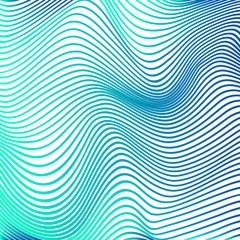 Abstract curve lines background blue modern curves
