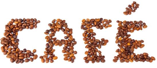 Wall Murals Coffee beans grains de café torréfié