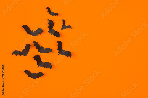 fun halloween orange background mock up template for advertising