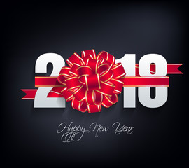 Happy new year 2018 greeting card and merry christmas
