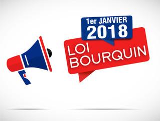 mégaphone : loi bourquin 1er janvier 2018