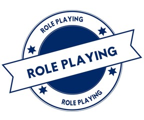 Blue ROLE PLAYING stamp.