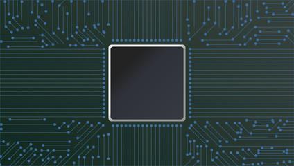 Vector Circuit Board Techno Background