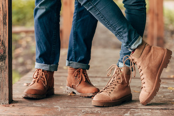 couple in autumn shoes