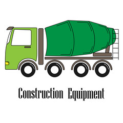 Vector illustration of the concrete mixer