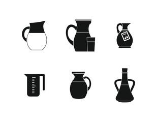 Jug icon set, simple style