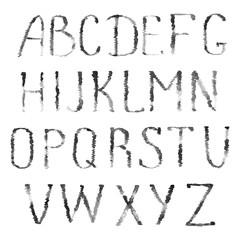 Black letters of latin alphabet