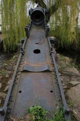Kanone an der Mühle Langenholzhausen