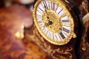Antique ornate clock background