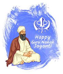 happy guru nanak jayanti illustration posters banners