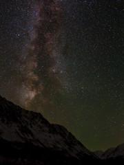 star mountains sky milky way