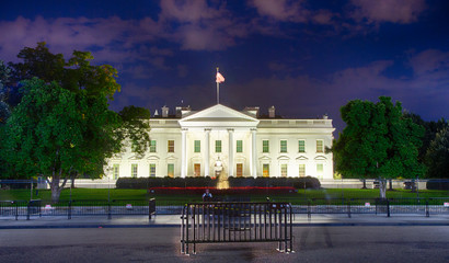 Wall Mural - White House at Night