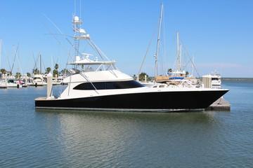 Black and White Yacht Corpus Christi Texas