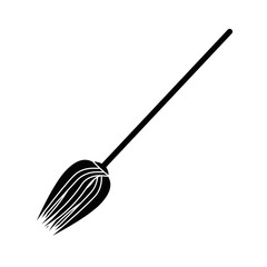 Witchs broom funny icon