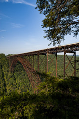 Canvas Prints Bridge Morning View of New River Gorge Bridge - West Virginia