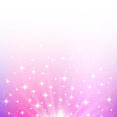 Pink shiny background with starry lights