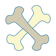 bones crossed drawing isolated icon