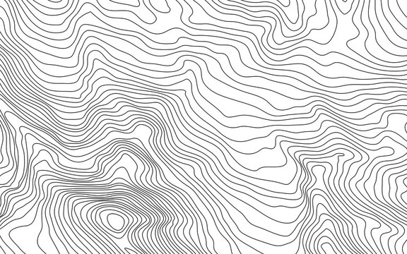 MobileThe stylized height of the topographic contour in lines and contours. The concept of a conditional geography scheme and the terrain path. Vector illustration.