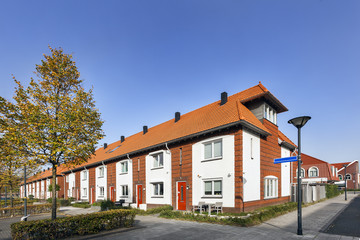 Street in a residential district in the Netherlands