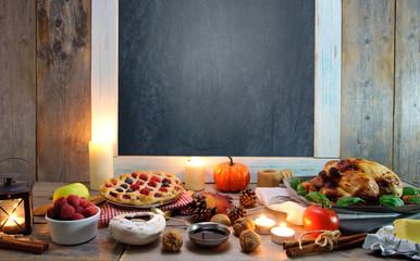 Thanksgiving meal background