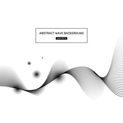 Abstract wave white background