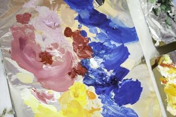 Paint mixing palette